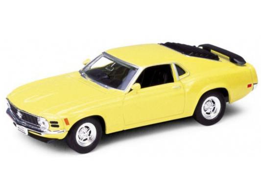 Автомобиль Welly Ford Mustang 1970 1:34-39 желтый