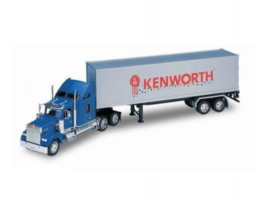 Грузовик Welly Kenworth W900 с прицепом 1:32 синий