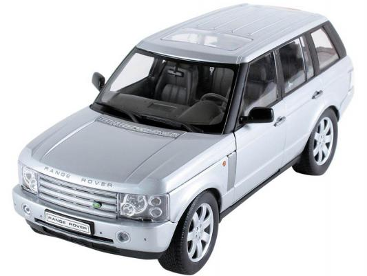 Автомобиль Welly LAND ROVER RANGE ROVER 1:18 серебристый