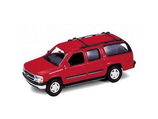 Автомобиль Welly 2001 Chevrolet Suburban 1:34-39 красный 42312W