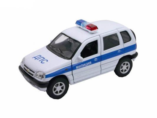 Автомобиль Welly Chevrolet Niva МИЛИЦИЯ ДПС 1:34-39 белый автомобиль welly nissan gtr 1 34 39 белый 43632