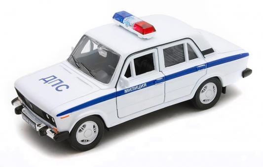 Автомобиль Welly Lada 2106 Милиция ДПС 1:34-39 белый 42381 автомобиль welly nissan gtr 1 34 39 белый 43632