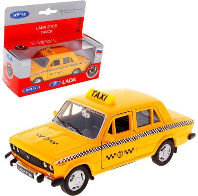Автомобиль Welly LADA 2106 ТАКСИ 1:34-39 желтый