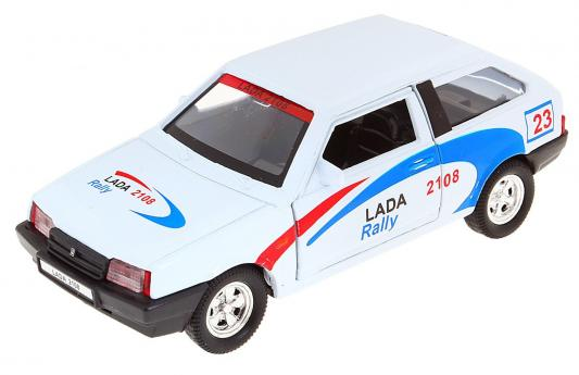 Автомобиль Welly LADA 2108 Rally 1:34-39 белый автомобиль welly lada 110 1 34 39 белый