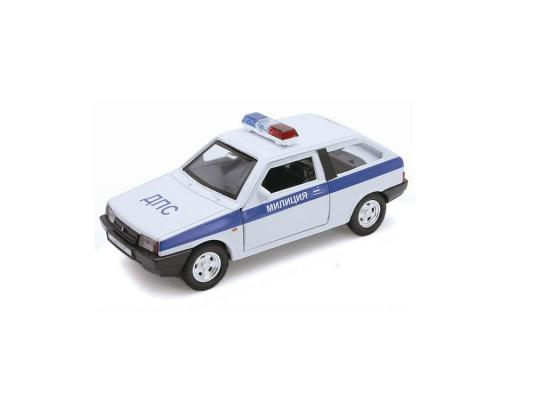 Автомобиль Welly LADA 2108 Милиция ДПС 1:34-39 белый welly lada 2108 1 34 39