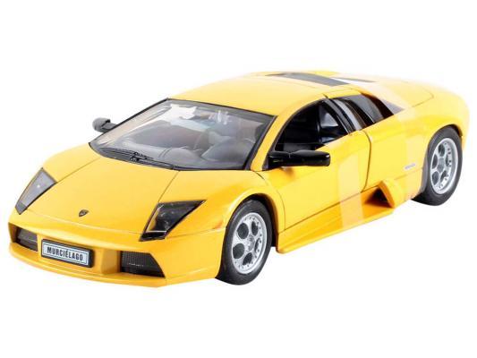 Автомобиль Welly LAMBORGHINI MURCIELAGO 1:34-39 желтый машины 1 87 lamborghini murcielago