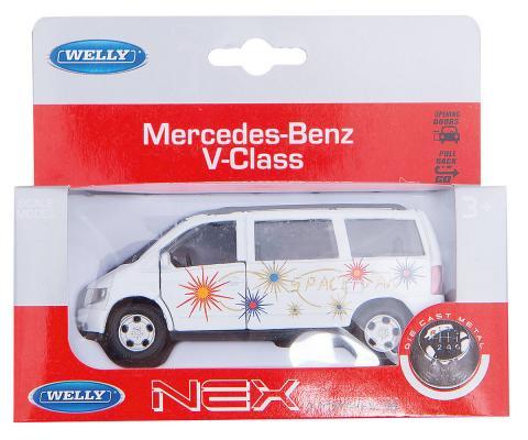 Автомобиль Welly MB V-CLASS 1:34-39 белый