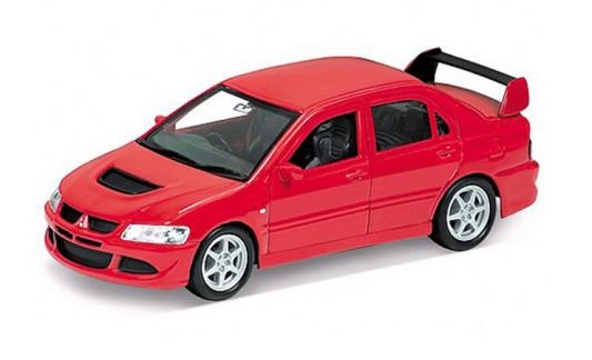 Автомобиль Welly MITSUBISHI LANCER EVOLUTION VIII 1:34-39 красный