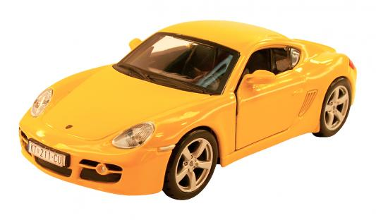 Автомобиль Welly PORSCHE CAYMAN S 1:34-39 желтый автомобиль welly porsche cayman s 1 24