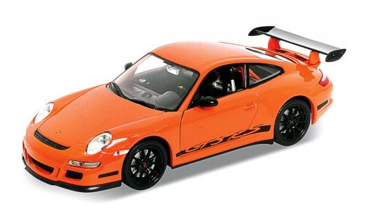 Автомобиль Welly Porsche GT3 RS 1:34-39 оранжевый автомобиль welly porsche cayman s 1 24