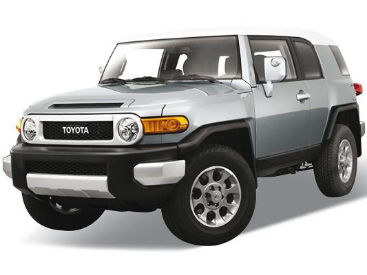 Автомобиль Welly Toyota FJ Cruiser 1:34-39 серебристый 43639