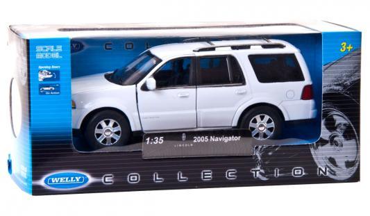 Автомобиль Welly 2005 FORD LINCOLN NAVIGATOR 1:35 серебристый автомобиль welly 2005 ford lincoln navigator 1 35