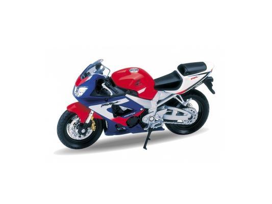 Мотоцикл Welly Honda CBR900RR Fireblade 1:18 разноцветный