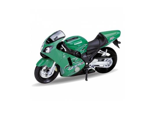 Мотоцикл Welly Kawasaki 2001 Ninja ZX-12R 1:18 зеленый 12167P