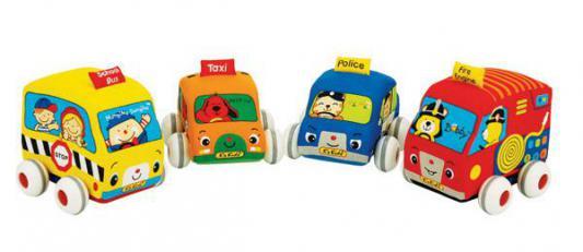 Интерактивная игрушка Ks Kids мягкие машинки от 1 года разноцветный KA459