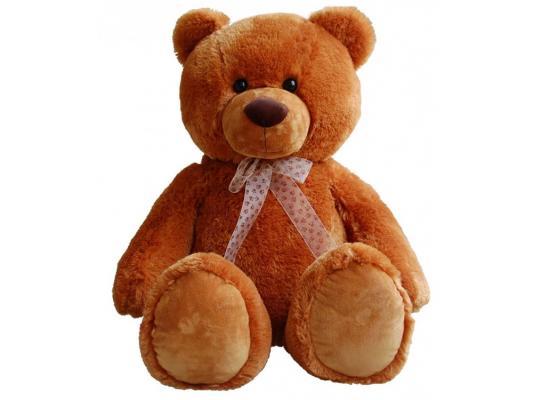 Мягкая игрушка медведь Aurora сидячий плюш коричневый 70 см