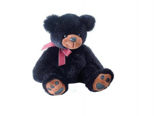 Мягкая игрушка медведь Aurora 31-073 плюш черный 37 см