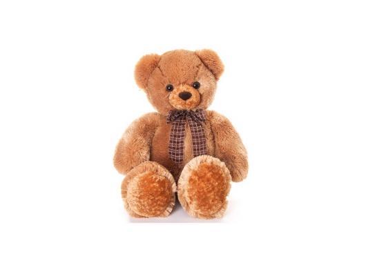 Мягкая игрушка медведь Aurora Медведь мягкий с бантом плюш синтепон коричневый 69 см