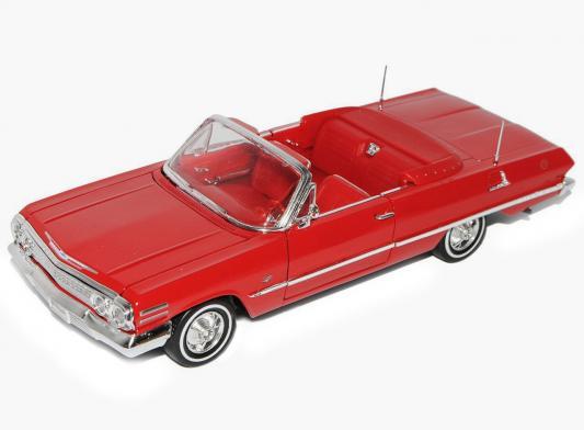 Автомобиль Welly Chevrolet Impala 1963 1:24 красный в ассортименте автомобиль autotime chevrolet camaro 1 64 цвет в ассортименте в ассортименте 49941