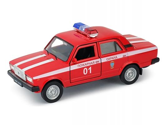 Автомобиль Welly LADA 2107 Пожарная охрана 1:34-39 красный welly welly набор служба спасения пожарная команда 4 штуки