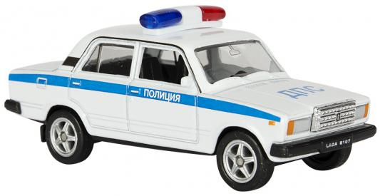 Автомобиль Welly Lada 2107 Полиция 1:34-39 белый автомобиль welly nissan gtr 1 34 39 белый 43632