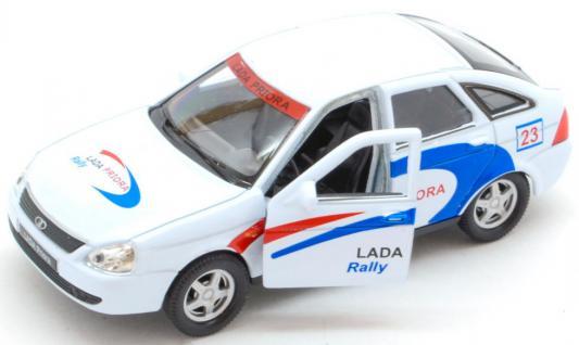 Автомобиль — Lada Priora Rally — белый