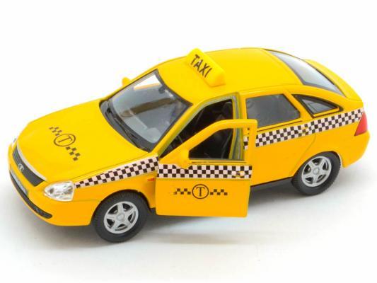 Автомобиль Welly LADA PRIORA Такси 1:34-39 желтый автомобиль welly lada kalina 1 34 39 красный