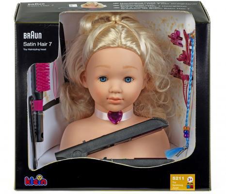 Игровой набор KLEIN Модель для причесок с утюжком для выпрямления волос игровой набор klein klein набор для салона красоты barbie большой