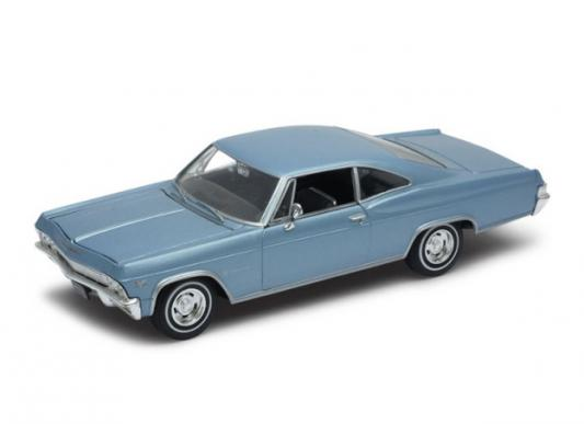 Автомобиль Welly Chevrolet Impala 1965 1:24 синий 22417