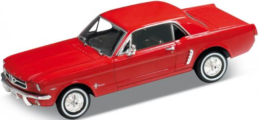 Автомобиль Welly Ford Mustang 1964 1:24 красный автомобиль welly audi r8 v10 1 24 белый 24065