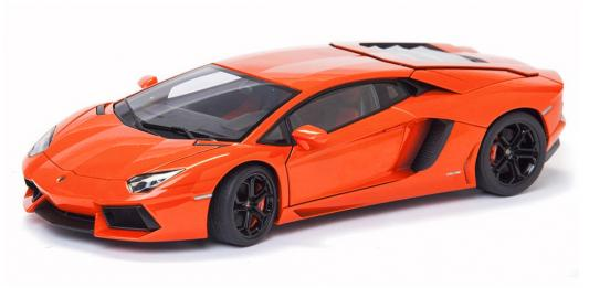 Автомобиль Welly Lamborghini Aventador LP 700-4 1:24 оранжевый 24033