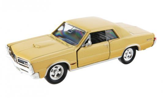 Автомобиль Welly Pontiac GTO 1965 1:34-39 желтый щетки стеклоочистителя golden snail golden snail gs 7105 бескаркасная щетка стеклоочистителя 17