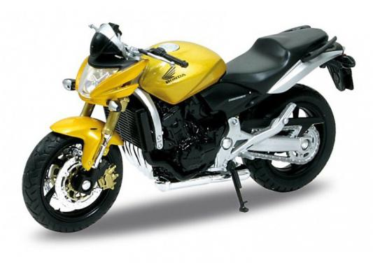 Мотоцикл Welly Honda Hornet 1:18 желтый 12830 - WELLYДетские модели машинок<br>Производитель: Welly, Тип: Мото, Тип модели: Мотоцикл, Масштаб: 1:18<br>