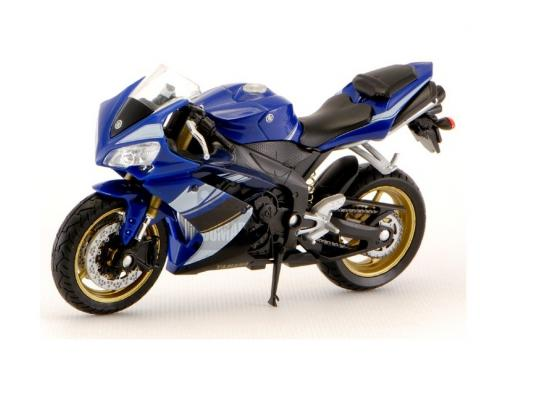 Мотоцикл Welly Yamaha YZF-R1 1:18 синий 12806P welly модель мотоцикла 1 18 yamaha yzf r1