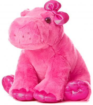Мягкая игрушка Aurora Бегемот плюш розовый 30 см 30-604