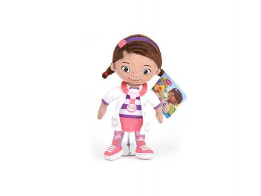 Мягкая игрушка герой мультфильма Disney Доктор Плюшева текстиль розовый 25 см 1200242
