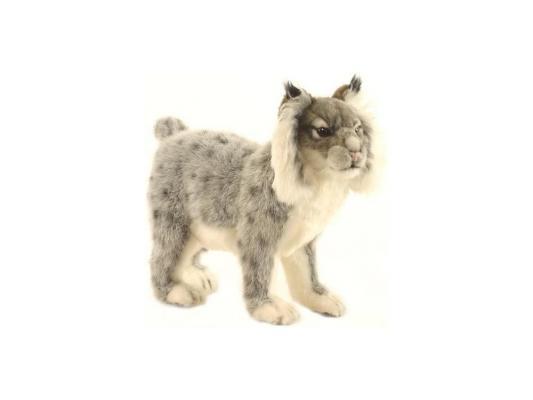 Купить Мягкая игрушка Hansa Иберийская рысь искусственный мех серый 32 см 5185, Животные