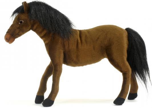 Мягкая игрушка лошадь Hansa гнедая искусственный мех коричневый 37 см 5635