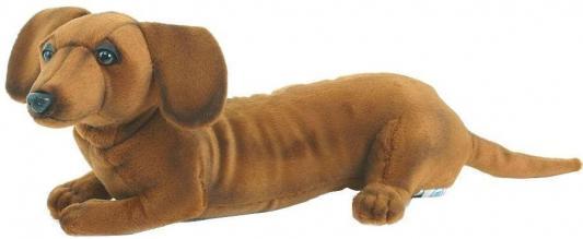 Мягкая игрушка Hansa Щенок таксы текстиль коричневый 40 см 4002 мягкая игрушка для ребенка hansa щенок таксы