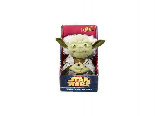 Мягкая игрушка герой видеоигр Star Wars Мягкая игрушка Star Wars Йода плюшевый (со звуком) плюш ткань пластик зеленый 23 см
