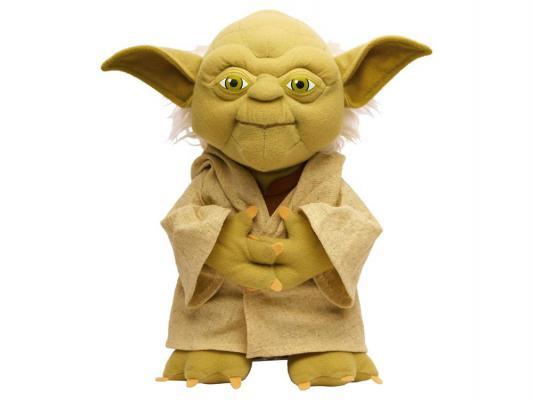 Мягкая игрушка герой мультфильма Star Wars Йода плюш зеленый 38 см