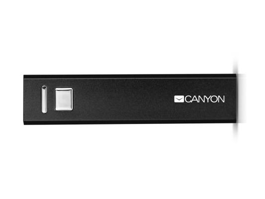 Портативное зарядное устройство Canyon CNE-CSPB26B 2600мАч черный canyon cne cpb130w h2cnecpb130w белый