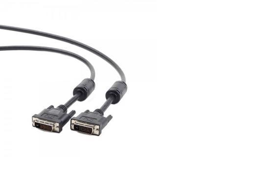 Кабель DVI-DVI 1.8м Dual Link Gembird экранированный ферритовые кольца черный CC-DVI2-BK-6 кабель displayport dvi 3м gembird экранированный черный cc dpm dvim 3m