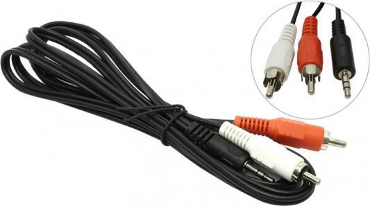 Кабель соединительный 2.0м 5bites 3.5 Jack (M) - 2xRCA (M) стерео аудио AC35J2R-020M