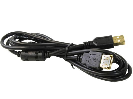 Кабель USB 2.0 AM-AF 1.8м 5bites ферритовые кольца черный UC5011-018A