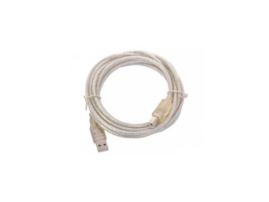 Кабель USB 2.0 AM-BM 1.8м VCOM Telecom прозрачная изоляция VUS7110-1.8M кабель удлинитель usb 2 0 am af 1 8m telecom прозрачная голубая изоляция vu6956