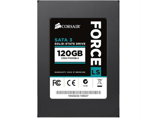 Твердотельный накопитель SSD 2.5 120GB Corsair Force LS  Read 560Mb/s Write 535Mb/s SATAIII CSSD-F120GBLSB твердотельный накопитель ssd 120gb intel ssd 535 series m 2 read 540mb s write 480mb s ssdsckjw120h601 941928