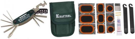 Набор инструментов Kraftool для обслуживания велосипеда 21-в-1 26184-H21