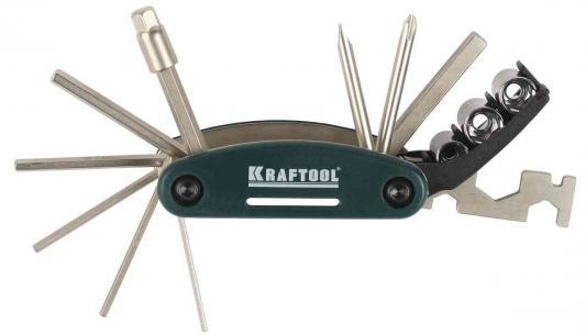 Набор инструментов Kraftool для обслуживания велосипеда 16-в-1 26182-H16