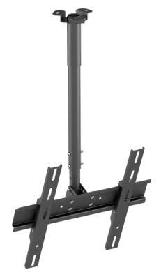 Кронштейн Holder PR-101-B черный для ЖК ТВ 32-65 потолочный фиксированный VESA 400x400 до 60 кг кронштейн holder pr 102 w белый для жк тв 32 65 потолочный фиксированный vesa 400x400 до 90 кг